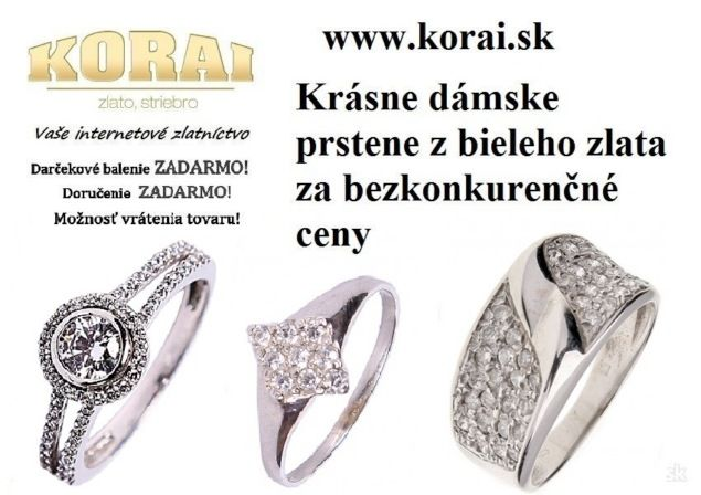 c8293211e Dámske prstene z bieleho zlata KORAI - bazos, bazar