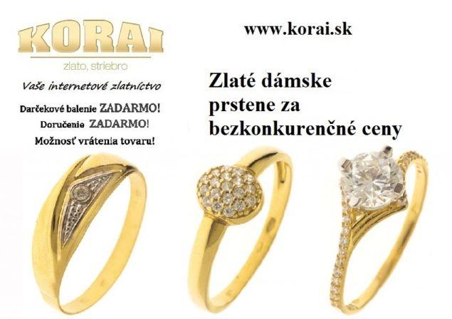 726774198 Dámske zlaté prstene KORAI - bazos, bazar
