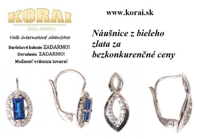 0f0c93fab Náušnice z bieleho zlata KORAI - bazos, bazar