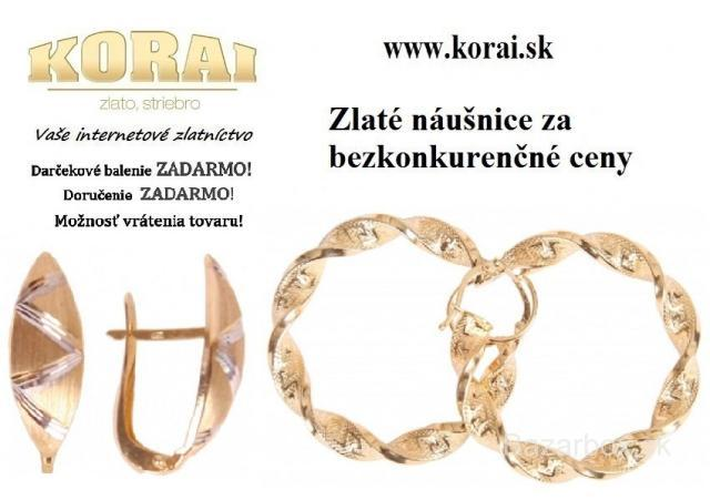 e17152d54 Náušnice zlaté KORAI - bazos, bazar