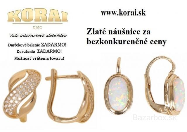 fe9b5dd3b Náušnice zo žltého zlata od KORAI - bazos, bazar