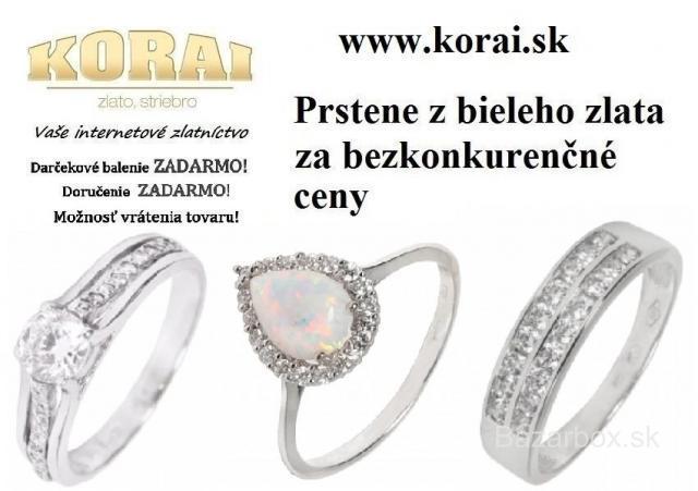 ed3df2321 Prstene z bieleho zlata od KORAI - bazos, bazar