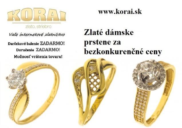 970891a84 Prstene zo žltého zlata KORAI - bazos, bazar