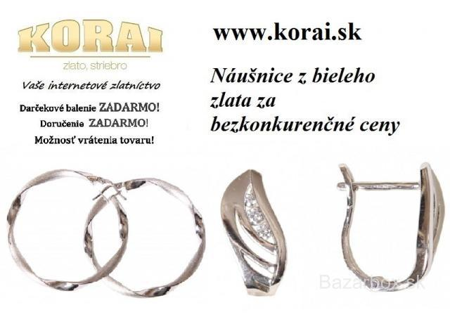 8c0aa000d Z bieleho zlata náušnice KORAI - bazos, bazar