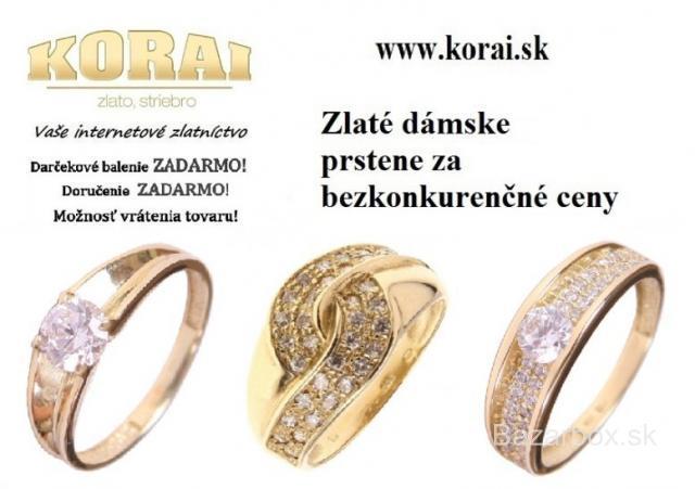 2fb7eb11f Zlaté dámske prstene KORAI - bazos, bazar
