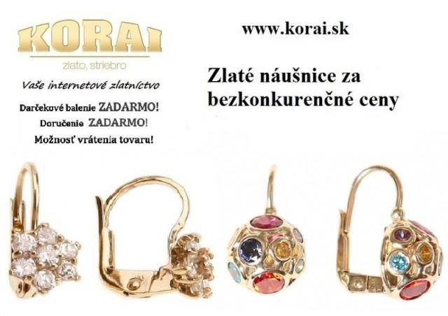 894d5c399 Zlaté náušnice KORAI - bazos, bazar