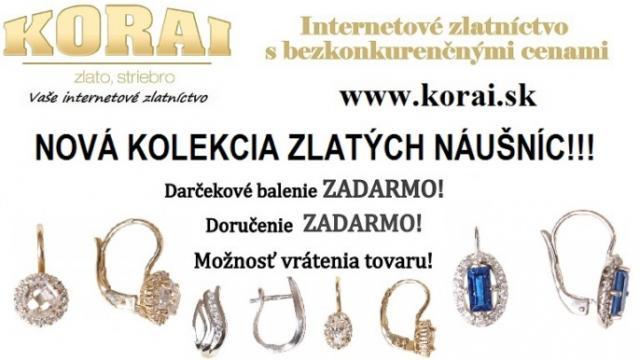 ceb9653df Zlaté náušnice KORAI – nová kolekcia, super ceny - bazos, bazar