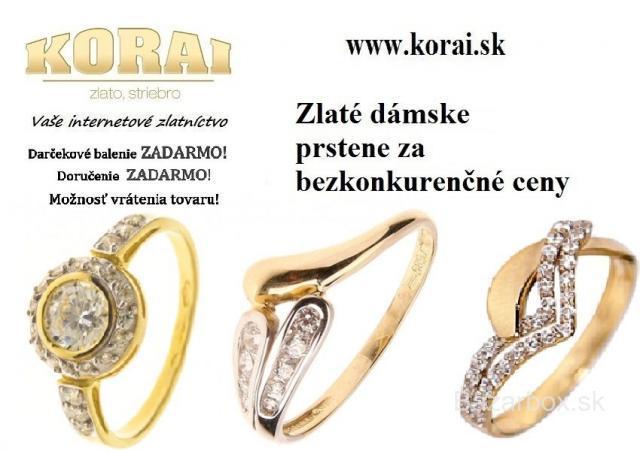 0dc822831 Zlaté prstene KORAI - bazos, bazar